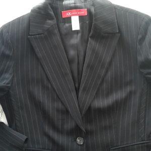 Anne Klein black blazer with pinstripe.